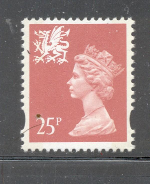 GB Wales SC WMMH60 1993 25p salmon Machin Head stamp NH
