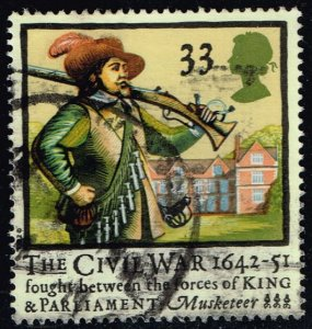 Great Britain #1456 Musketeer; Used (0.95) (2Stars)