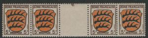 Germany - under French occupation - Scott # 4N3, mint nh, gutter pair