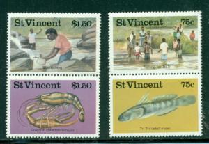St.Vincent MNH 984-7 Fresh Water Fishing 1986 SCV 3.35