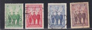 Australia # 184-187, Nurse, Sailor, Soldier, Aviator, Used, 1/2 Cat.