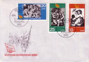 DDR FDC 10th Anny of Comie Congress  2260 / 2261 / 2262 L31