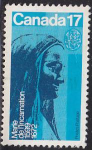 Canada 886 Marie de I'Incarnation 1981