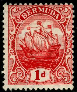 BERMUDA SG46a, 1d Rose-Red, M MINT. Cat £26.