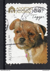 ADOPTED ADORED - TIGGER postally used 60c BOOKLET SELF-ADHESIVE stamp from AUSTR