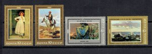 RUSSIA - 1981 RUSSIAN PAINTINGS - SCOTT 4936 TO 4939 - MNH