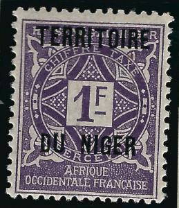 Pristine Postage Due Niger (Scott J8) Mint F-VF...Buy before prices go up!