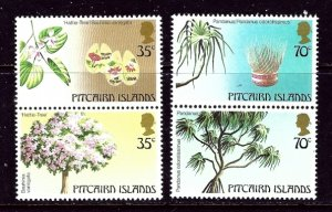 Pitcairn Is 229-30 MNH 1983 Trees in pairs    (ap6160)