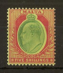 Malta 1911 5/- SG63 MNH Cat£65
