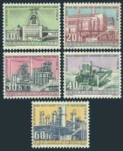 Czechoslovakia 992-996,MNH.Michel 1211-1215. New 5-year plan,1960.Stalin mine,