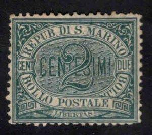 San Marino Scott 1 Mint No Gum 1895 stamp CV $37.50