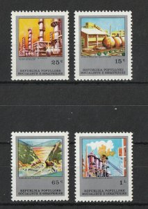 Albania MNH 1783-6 5 Year Industrial Plant Plan SCV 4.80