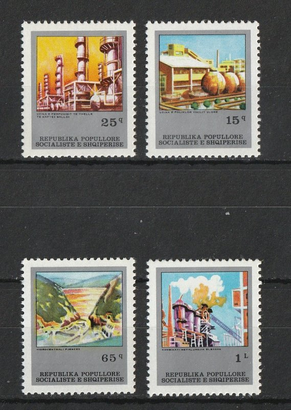 Albania MNH 1783-6 5 Year Industrial Plant Plan SCV 4.80