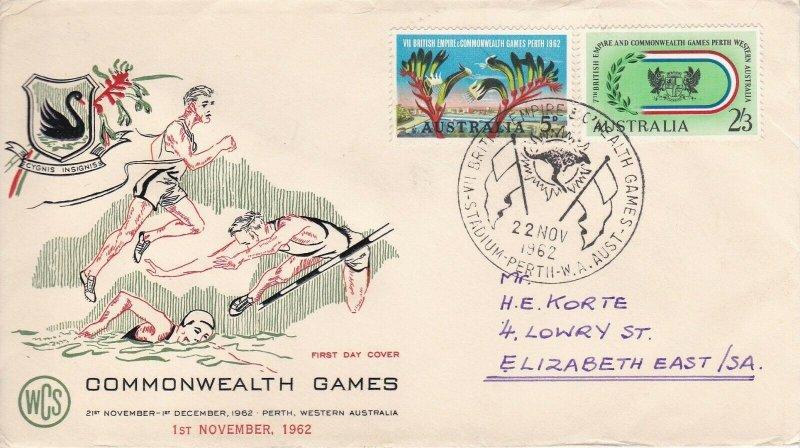 AFD830) 1962 Australia, Commonwealth Games cachet FDC