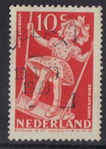 Netherlands #B192  used  1948   child welfare 10c