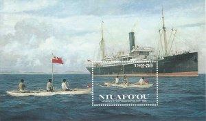 Tonga Niuafo'ou 1986 Outrigger Canoe and Ships Sheet MNH** 11747
