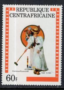 Central African Republic 507 Norman Rockwell MNH VF