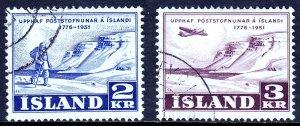 Iceland - Scott #271-272 - Used - SCV $7.75