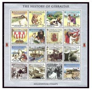 Gibraltar 841 MNH 2000 Millennium S/S (USA Shipment Only)   (KA)