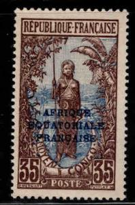 Middle Congo Scott 37 MH* stamp