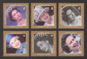 Belize Sc# 1226-31 MNH Diamond Jubilee