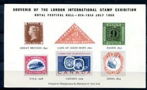 GREAT BRITAIN 1960 LONDON INTERNATIONAL STAMP EXHIBITION - RARITIES SHEET!