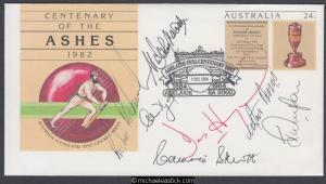 Australia 1984 (Dec) Cent The Ashes 1982 PSE signed by West Indies Cricket Team