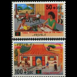 ARUBA 1994 - Scott# B35-6 Intl.Family Year Set of 2 NH