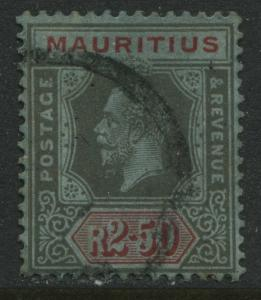 Mauritius KGV 1922 2 rupees 50 cents used