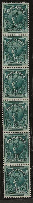 South Africa 98 m vert strip/6