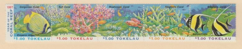 Tokelau Islands Scott #251a Stamps - Mint NH Strip of 5