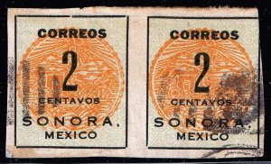 MEXICO STAMP SORONA ISSUE STAMP COLLECTION LOT #1 2C PAIR