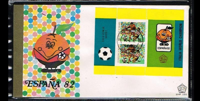 1982 - Indonesia FDC SHP 123_6 - Sport - Football (Soccer) - Worldchampionshi...
