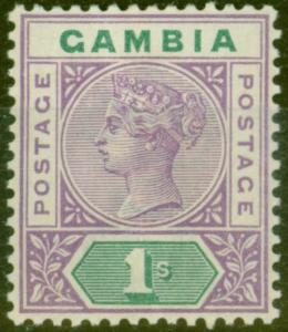 Gambia 1887 4d Brown SG30 Fine Lightly Mtd Mint