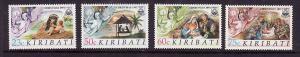Kiribati-Sc#578-81-Unused NH set-Christmas-Nativity--1991-