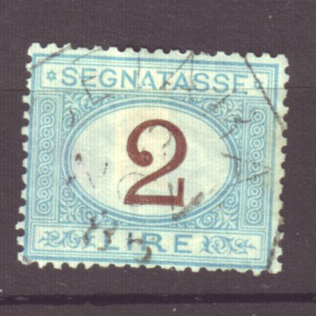 J22616 Jlstamps 1870-25 italy used #j15 postage due