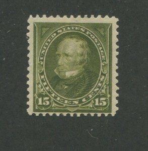 1898 United States Postage Stamp #284 Mint Hinged F/VF Original Gum