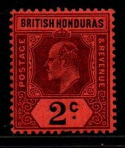 British Honduras Sc 59 1902 2c violet & black Edward VII stamp mint