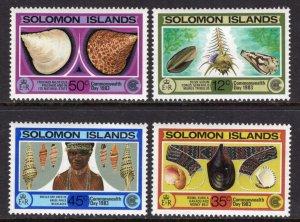 Solomon Islands 493-496 MNH VF