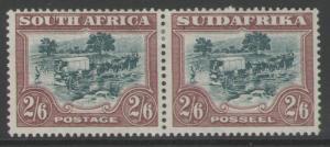 SOUTH AFRICA SG37 1927 2/6 GREEN & BROWN MTD MINT