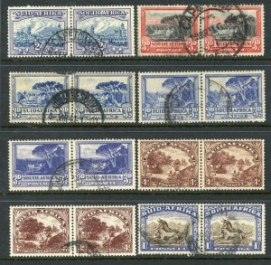 South Africa Horizontal Pairs Used mix. Fronts and Backs Scanned.