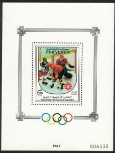 Yemen Ice Hockey Winter Olympic Games Sarajevo MS SG#MS315 CV£20+