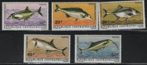 CENTRAL AFRICAN REPUBLIC,135-139, (5) SET, MNH, 1971 River fish