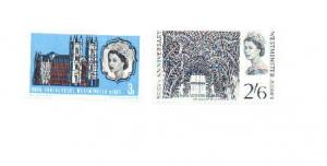 Great Britain 1966 Sc 452-3 Westminster Abbey MNH