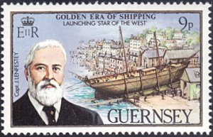 Guernsey # 269 mnh ~ 9p Ship Launching - Star of the West
