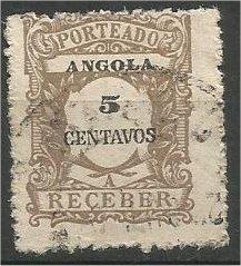 ANGOLA, 1921, used 5c POSTAGE DUE Scott J25