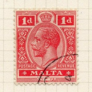 Malta 1921-22 Early Issue Fine Used 1d. 321546