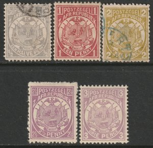 Transvaal Sc 123,124,126-127 partial set MH/used