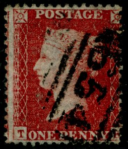 SG40, 1d rose-red PLATE 59, LC14, FINE USED. Cat £18.