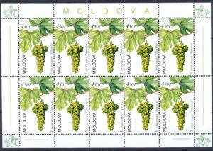 Moldova 2010 Plants Grape 10 MNH stamp Full sheet